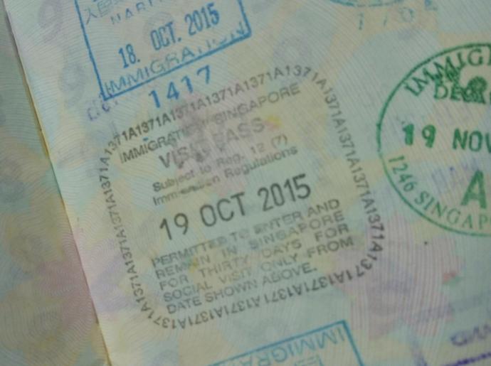 2015年10月19日シンガポールへ